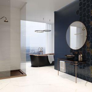 Ciemne kolory w łazience. To jest trendy! Fot. Paradyż