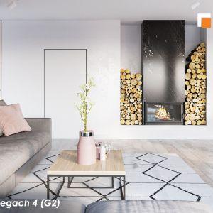"""Nowoczesna, efektowna parterówka """"Dom w przebiśniegach 4 (G2)"""". Fot: Biuro Projektów ARCHON+"""