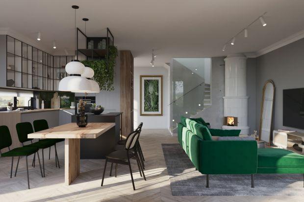 """Architektura wnętrz tego domu w warszawskim Wawrze pogodziłaby zwolenników bardzo odmiennych konwencji. Autorka projektu, architektka Agata Kasprzyk-Olszewska, nazywa ten nietuzinkowy styl """"vintage loft""""."""