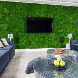 Pomysł na ściany w salonie. Projekt: Dariusz Grabowski. Fot. Bartosz Jarosz