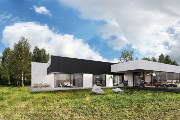Ten prosty, nowoczesny, energooszczędny dom doskonale wpisuje się w otoczenie.Nawet część garażowa znajduje się tuż pod ziemią, aby nie zaburzyć tego wrażenia. Zobaczcie nowy projektMarcina Tomaszewskiego z pracowni REFORM Architekt.<br