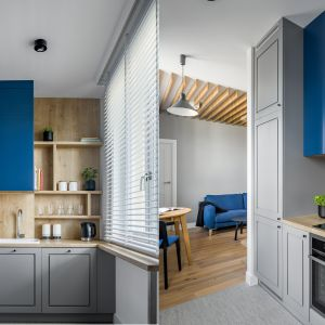 Kuchnia w bloku. 12 pomysłów na urządzenie. Projekt Exel Architekci. Fot. Dariusz Jarząbek