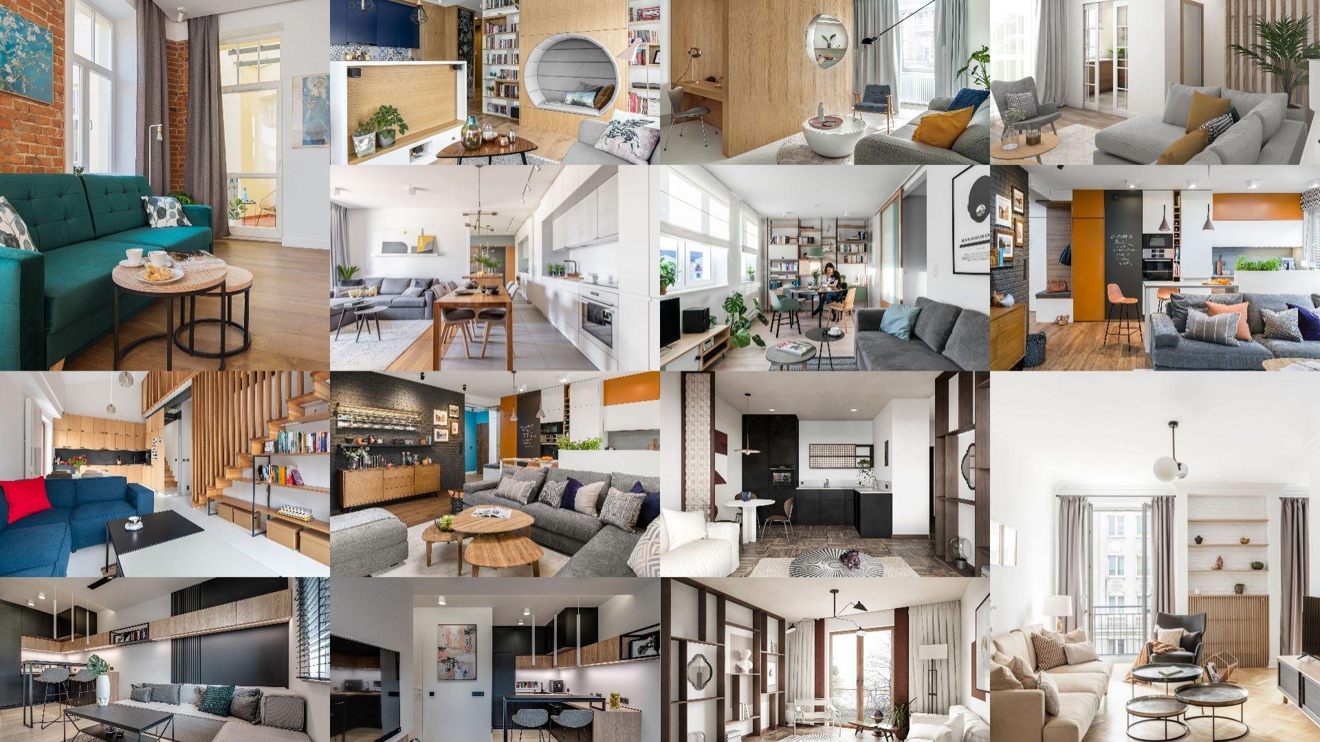 Małe mieszkanie w bloku: 10 dobrych projektów małych wnętrz