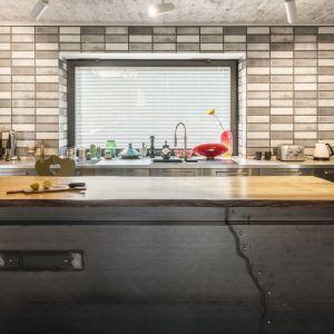 Pomysł na wykończenie ściany nad blatem w kuchni. Projekt: Agnieszka Brzostek, AB Concept Design. Fot. Paweł Ulatowski