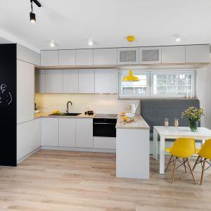 Kuchnia dla rodziny - 15 pomysłów na modne wnętrze. Projekt Katarzyna Uszok. Fot. Bartosz Jarosz.