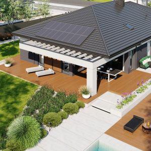Nazwa projektu: Dom Alison III G2. Powierzchnia użytkowa: 151.87 m². Projekt wykonano w Pracowni Projektowej Archipelag