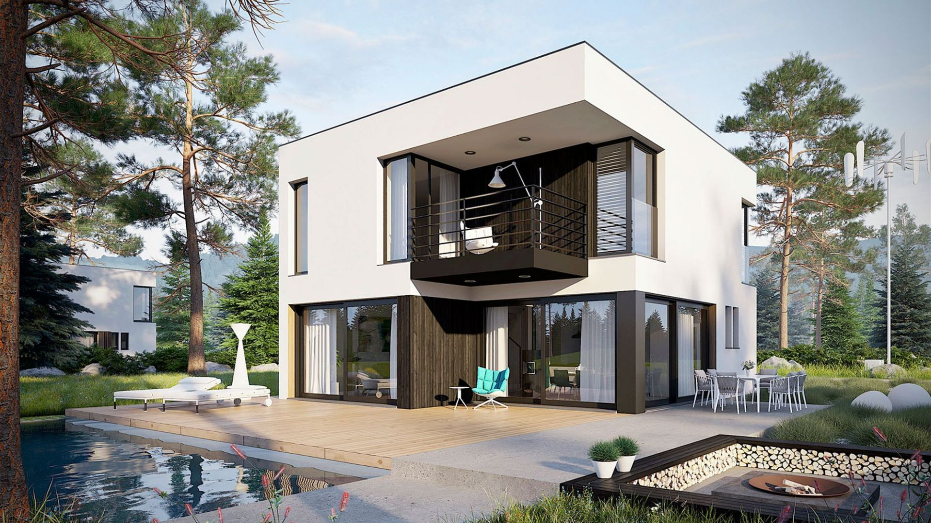 Nazwa projektu: Dom EX 2 Soft. Powierzchnia użytkowa: 124.39 m². Projekt wykonano w Pracowni Projektowej Archipelag