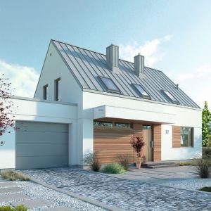 Nazwa projektu: Przytulny 2. Powierzchnia użytkowa: 107.40 m². Projekt wykonano w pracowni: Domy z Wizją