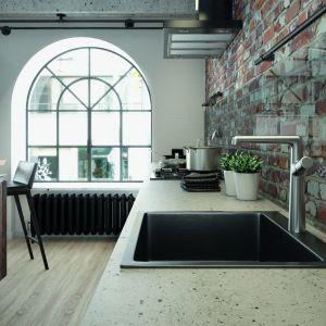 Zlewozmywak stalowy Marmara, ze względu na swój minimalistyczny kształt oraz oryginalne, grafitowe wykończenie będzie idealny do stylowych wnętrz. Laveo