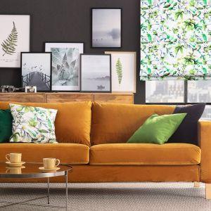 Pokrowiec na sofę Karlstad 3-osobową nierozkładaną, krótki. Fot. Dekoria