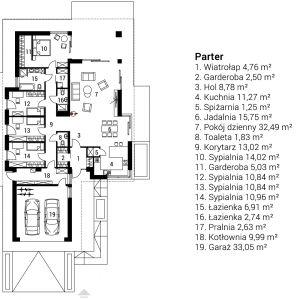 Nazwa projektu: Tanita III G2. Projekt wykonano w Pracowni Projektowej Archipelag