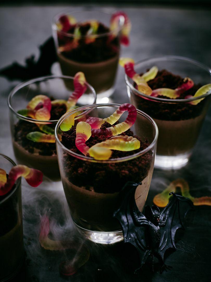 Dżdżownice w czekoladowej ziemifot. Thermomix.