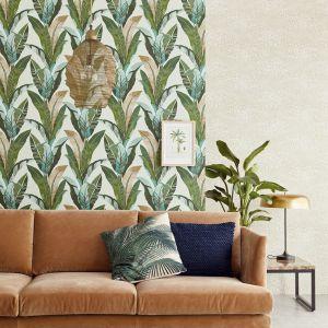 Lime Lace, Tropical Leaves Wallpaper  Light Blue, marka  Eijffinger