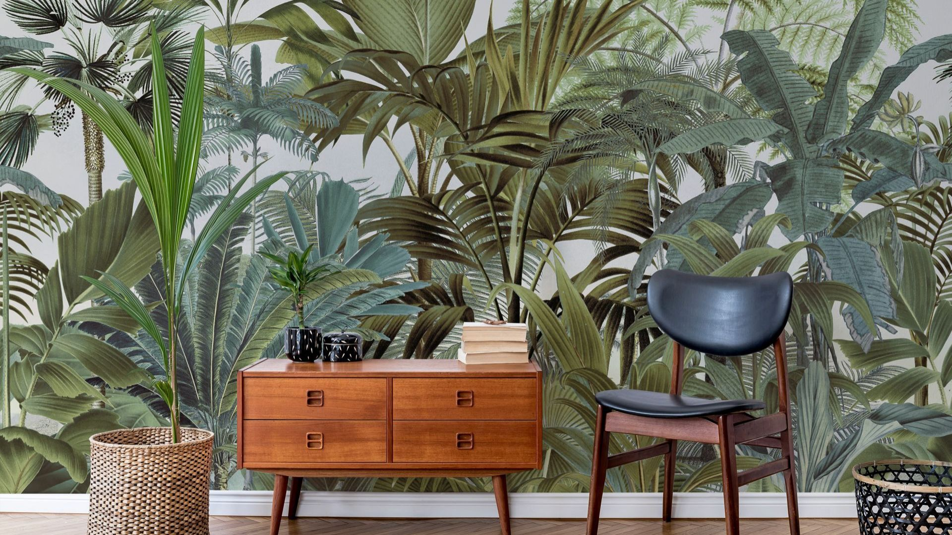 Wallsauce, Tropical Landscape 2 Mural by Andrea Haase