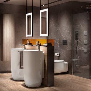 Ze stelażami Duplo One Roca zyskasz więcej miejsca w łazience, a nowe przyciski będą niezapomnianą ozdobą