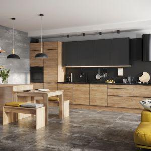 Czarne fronty w kuchni - to jest hit! Fot. KAMmono Black