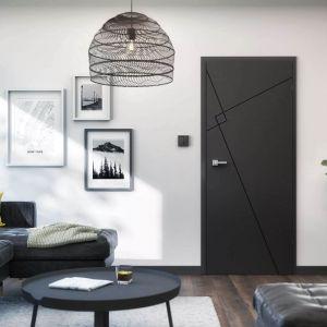 Drzwi Linea Premium Loft dostępne są w czarnym kolorze o matowym wykończeniu, dzięki czemu prezentują się bardz -stylowo. Fot.RuckZuck.