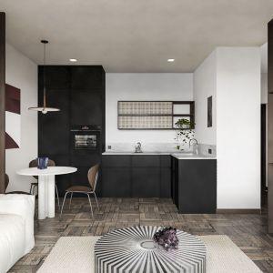 Aranżacja mieszkania o powierzchni 39 metrów kwadratowych. Projekt i wizualizacje Diana Żurek