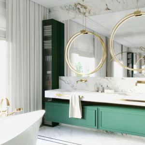 Dobre pomysły na wykończenie ścian w łazience. Projekt i zdjęcia: Magdalena Kostrzewa-Świątek, Agnieszka Zaremba, TISSU Architecture