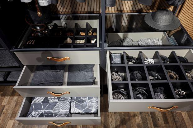 Drewniane półki, szuflady, drążek na wieszaki – to podstawowe wyposażenie szafy na ubrania. Minimalistom czy zwolennikom prostych rozwiązań może wystarczyć, a pozostałym… nie musi. Nowoczesne szafy skrywają za zamkniętymi drzwiami całe bo