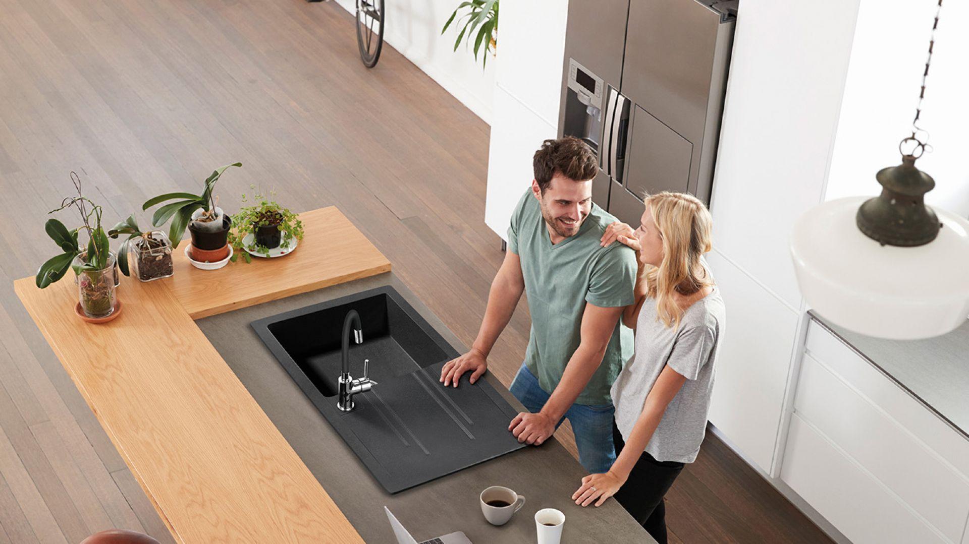 FERRO, Mezzo II - Zlewozmywak kuchenny jednokomorowy 58x48 cm, grafit