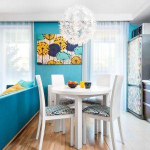 Mieszkanie dla rodziny 2+1 - salon i jadalnia. Zdjęcie PO. Autorka projektu: Krystyna Dziewanowska, pracownia Red Cube Design. Zdjęcia: Mateusz Torbus 7TH IDEA
