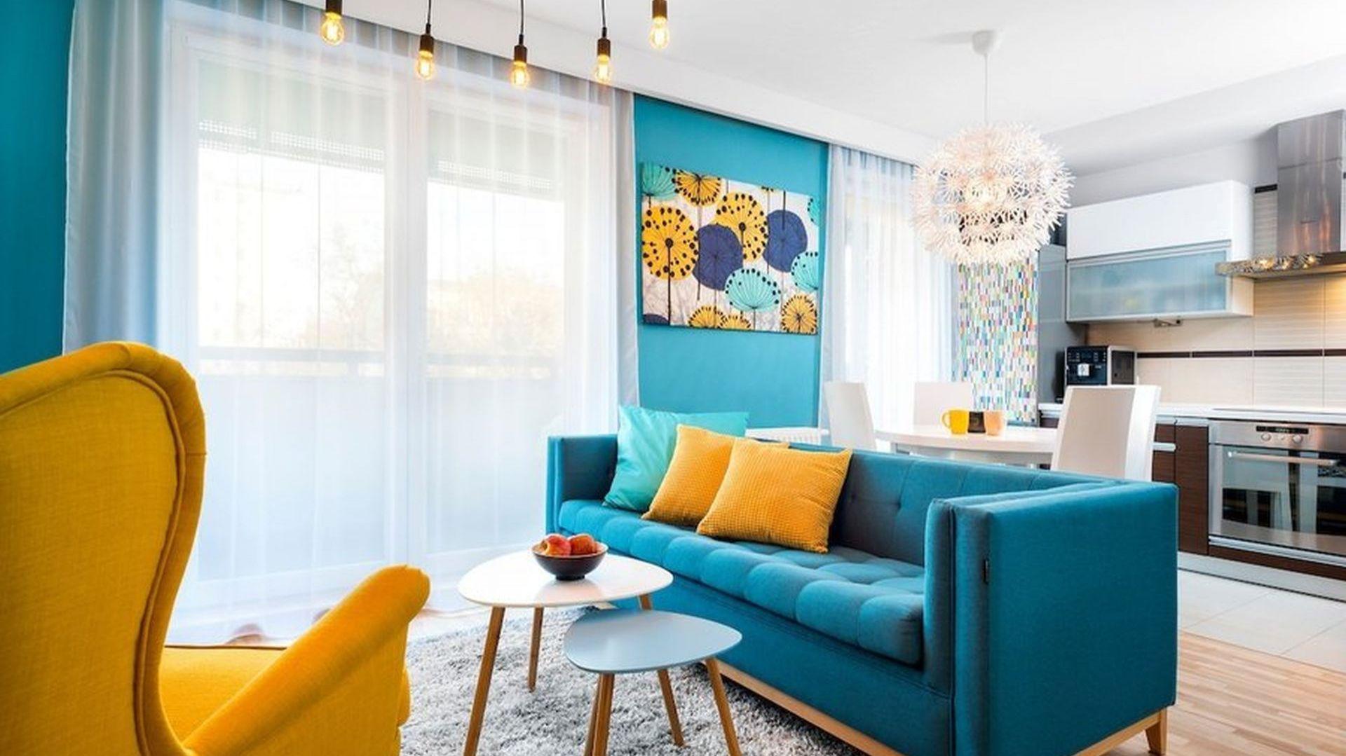 Mieszkanie dla rodziny 2+1 - salon z aneksem kuchennym. Zdjęcie PO. Autorka projektu: Krystyna Dziewanowska, pracownia Red Cube Design. Zdjęcia:  Mateusz Torbus 7TH IDEA