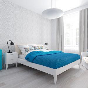 Ściana za łóżkiem: panele dekoracyjne Motivo, wzór Mirage. Fot. Vilo