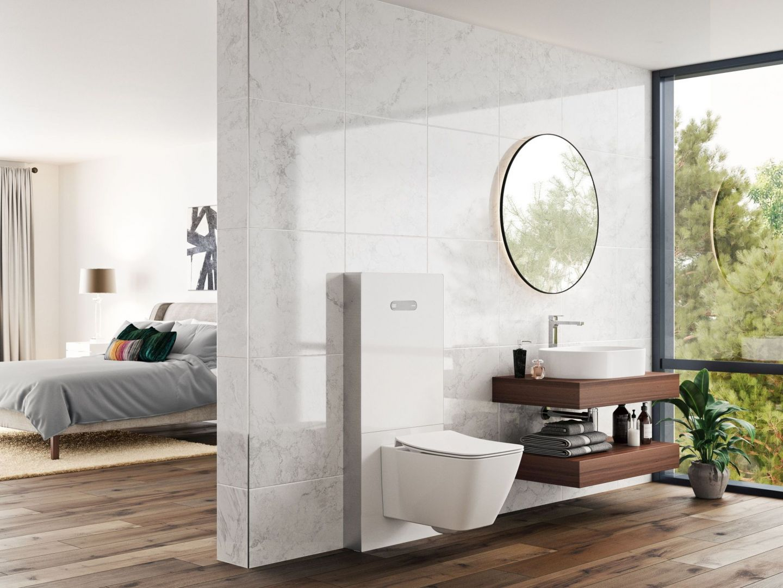 Neox z kolekcji stelaży sanitarnych Prosys przeznaczony do bezpośredniego montażu na ścianie. Designerska, monoblokowa konstrukcja, szlachetne wykończenie, ekonomiczne dwufunkcyjne spłukiwanie. Ideal Standard