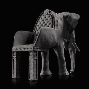 Elephant Chair to jedyne w swoim rodzaju siedzisko zaprojektowane przez designera Maximo Riera. Fot. Maximo Riera