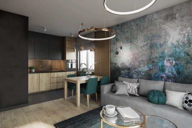 Inwestorzy tego 55-metrowego wnętrza z Krakowa nie bali się odważnych rozwiązań i niestandardowych kolorów. Taki projekt stworzyła im Justyna Krupka z pracowni projektowej Przestrzenie.