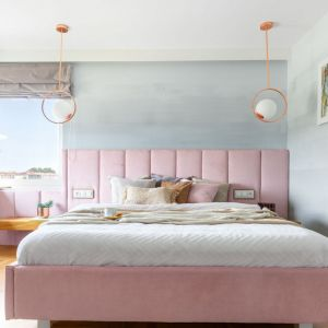 Sypialnia urządzona w nowoczesnym stylu. Projekt: Weronika Budzichowska, To Be Design. Fot. Marta Behlig / Pion Poziom Fotografia Wnętrz