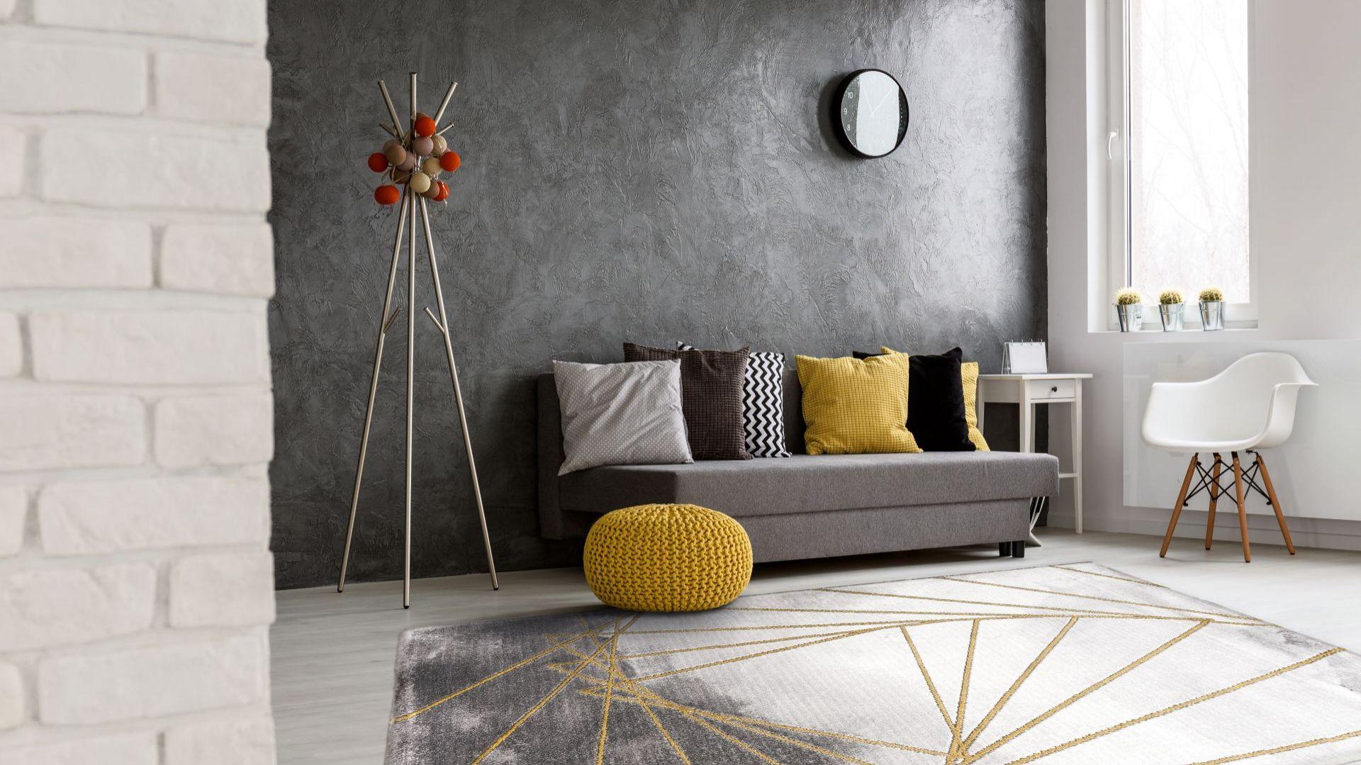 Dywan Craft Triangoli - nowoczesny, dwie tonacje szarości. marka: Komfort. Fot. Komfort