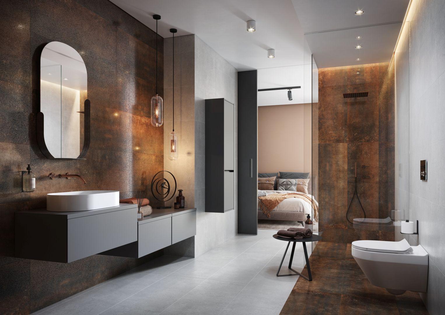 Kolekcja płytek ceramicznych Dren zbuduje w łazience niepowtarzalną scenerię. Cersanit.