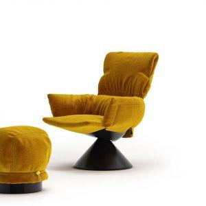 Lud'o Lounge  to fotel zaprojektowany przez Patricię Urquiolę dla włoskiej marki Cappelini. Fot. Cappelini