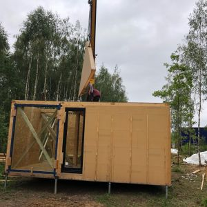 Biodomek - naturalny, modułowy, mobilny dom to projekt Magdaleny Górskiej z pracowni eKodama. Fo. Szymon Wyrzykowski
