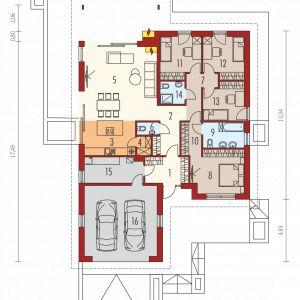 Projekt: Simon III G2 (pracownia projektowa Archipelag) - rzut domu. Fot. Archipelag