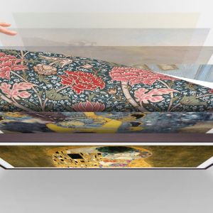 Galeria obrazów na szklanym ekranie: sztuka w efektownej oprawie. fot. Samsung