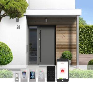 fot. Biometryczna kontrola dostępu w drzwiach wejściowych.