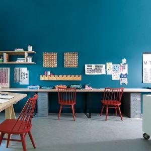 Kolorowe miejsce do pracy w domu. Fot. Benjamin Moore