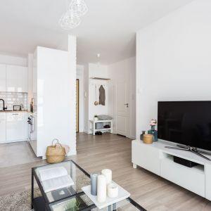 Mały salon z kuchnią. 15 pomysłów na mieszkanie w bloku. Projekt Deer Design