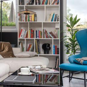 Fotel w salonie. Projekt i zdjęcia: Mikołajska Studio
