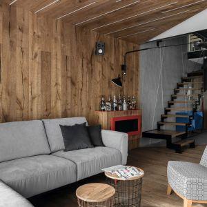 Fotel w salonie. Projekt: Anna Maria Sokołowska. Fot. Fotomohito