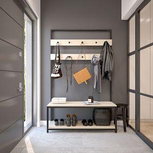 Hol. Projekt wnętrza domu dla czteroosobowej rodziny. Projekt: Katarzyna Czechowicz, Design Me Too