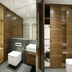 Pralka w łazience:  świetne sposoby na urządzenie. Projekt Monika i Adam Bronikowska