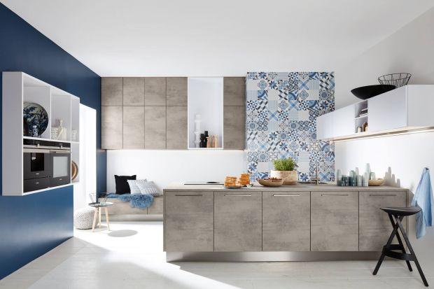 Beton to materiał, który podbił wnętrza. Zobaczcie jak prezentuje się w kuchni.
