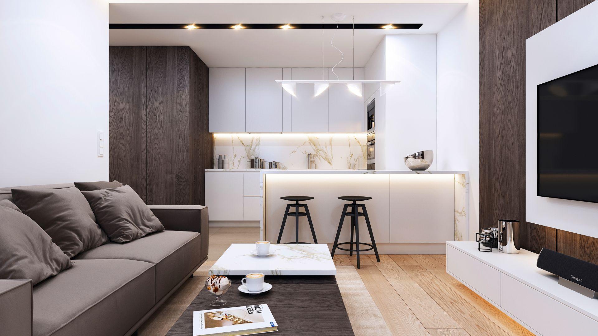 Mieszkanie dla pary. Projekt wnętrza: arch. Mirosław Butor, Beforeconcept
