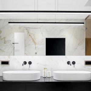 Aranżacja łazienki z marmurem Calacatta Paonazzo, Black Nayara