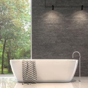 Aranżacja łazienki z marmurem Bianco Neve