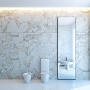 Aranżacja łazienki z marmurem Bianco Carrara